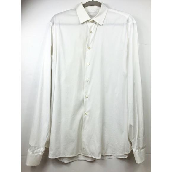 e062e1eb Men's Prada White Button Down Size 43/17